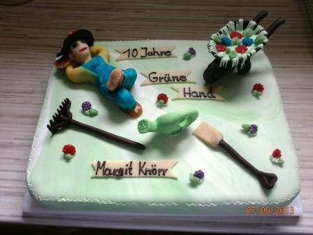 Fondant torte jubilaum